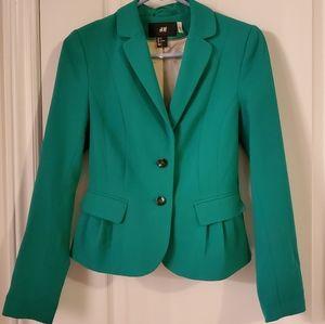 Like-New H&M Green Blazer.